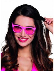 Neonrosa 80-talsbrillor för vuxna till festen