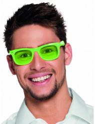 Neongröna 80-talsglasögon för vuxna till festen
