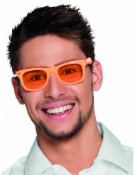 Neonorangea glasögon med orangea linser