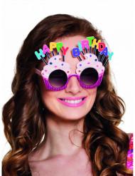 Rosa Happy Birthday Glasögon för vuxna