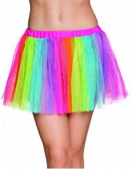 Regnbågsfärgad ballerinakjol dam