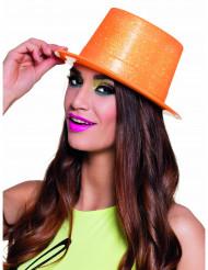 Orange cylinderhatt för vuxna