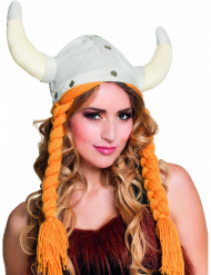 Vikingmössa med flätor dam