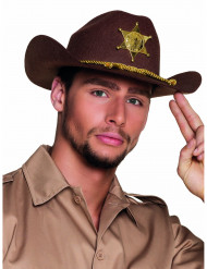 Brun sheriffhatt vuxen