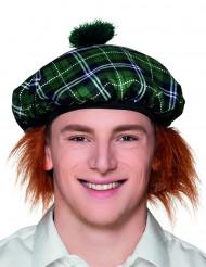 Grön skotsk basker med rött hår vuxen