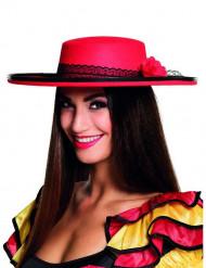Spansk röd dansarhatt dam