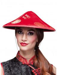 Röd kinesisk hatt vuxen