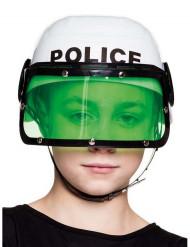 Vit polishjälm barn