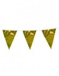 Girlang med guldfärgade vimplar 10 m