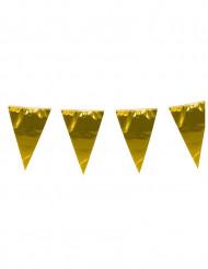 Girlang med stora guldvimplar 10 m