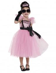 Glammig rosa divadräkt för barn