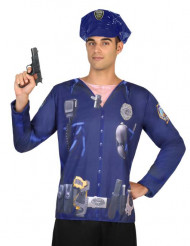 Polis t-shirt för vuxna till maskeraden