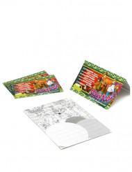 4 inbjudningskort från Scooby Doo™