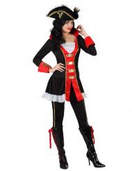 Vacker piratdräkt - Maskeraddräkt för vuxna