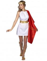 Romerskdräkt guld och röd i dam-modell
