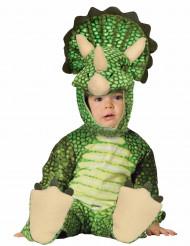Kostym som grön triceratops bebis