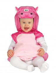 Rosa Flodhäst - Maskeraddräkt för bebisar