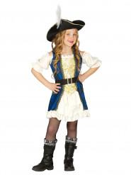 Blå Piratkapten Maskeraddräkt Barn