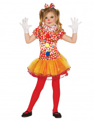 Extra fägglad clowndräkt med prickar och tutukjol