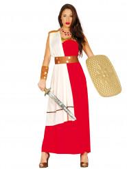 Rödvit Sparta krigare - utklädnad vuxen