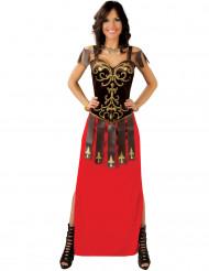 Kostym för krigerska med lång klänning