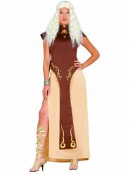 Kostym drottning på tronen dam