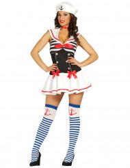 Kostym sexig sjöman dam