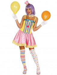 Pastell clown - utklädnad vuxen