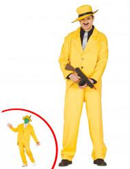 Gul  Gangster  - utklädnad vuxen
