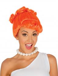 Orange peruk för stenåldersmänniskan