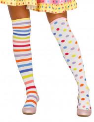 Pastellfärgade clownstrumpor