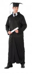 Kostym svart tunika 3 i 1 för vuxna