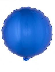 Blå aluminium ballong 45 cm