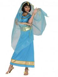 Blå exotisk  Prinsessa  - utklädnad vuxen