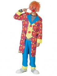 Färggrann clown - utklädnad vuxen