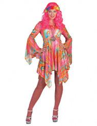 Rosa hippie - utklädnad vuxen