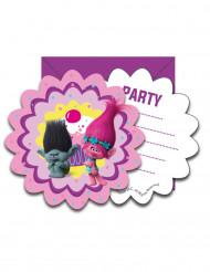 6 inbjudningskort + kuvert Trolls™