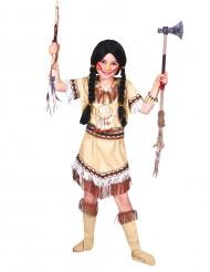 Indianflicka Dräkt med fransar