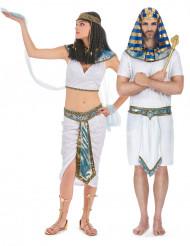 Blåvita egyptier pardräkt vuxen
