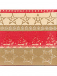 12 Julservetter i tjockt papper - Premium 40 x 40 cm