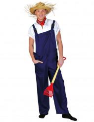 Kostym blå arbetsbyxa vuxna