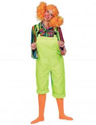 Kostym neongröna snickarbyxor för vuxna