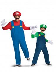 Mario™ och Luigi™ Förälder- & Barndräkt Lyxig