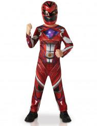 Röd Power Rangers™-dräkt för barn