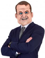Humoristisk latexmask Emmanuel Macron för vuxna