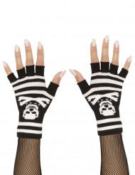 Fingerhandskar med dödskallar - Halloweentillbehör