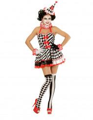 Mimare i kortklänning - utklädnad vuxen
