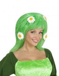 Grön peruk med prästkragar