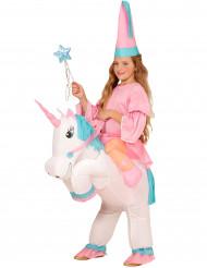 Prinsessdräkt med uppblåst enhörning Barn