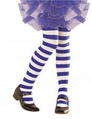 Blåa och vita strumpbyxor för barn - Maskeradtillbehör